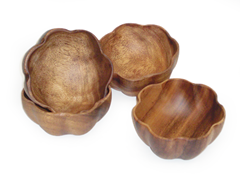 Acaciaware Flared Bowls Set of 4