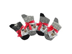 MUK LUKS® Women's 4 Pr Pk Crew Sock, Blk