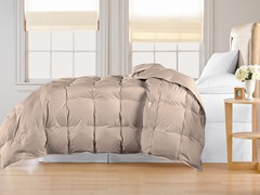 Down Alternative Comforter-Khaki-3 Sizes