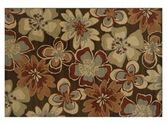 Emery Brown-Gold Floral Rug (Multiple Sizes)