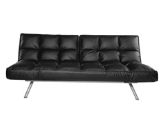 Abbyson Living Milano Black Convertible Euro Lounger