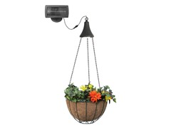 LED Light with Hanging Planter Basket