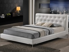 Panchal White Platform Bed