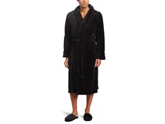 Men's Robe and Slipper Gift Set, Black