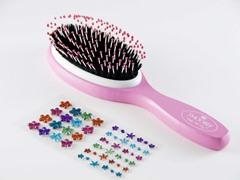 Pink Brush w/Rainbow Flowers Stickers