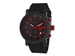Black/Red Dial with Black Silicone Band