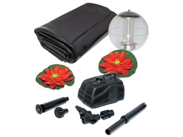 Koolatron 400 gallon pond kit with solar light for 90 gallon pond liner