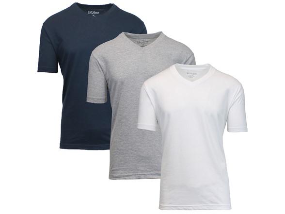 Image of 3pk Men Shortsleeve Vneck Undershirt Tee