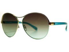 Amaryllis Sunglasses, Silver/Teal
