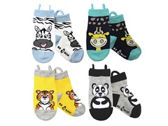 4-pk Socks - Zebra & Friends (S-L)