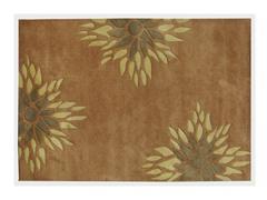 Floral Brown 5x8
