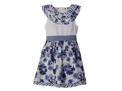 Blue Floral Knit Dress (2T-4T)