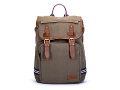 AVI-8 Men's Canvas Backpack, Khaki Green