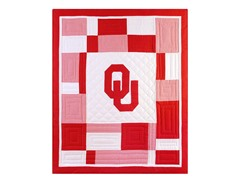 University of Oklahoma Quilted Throw