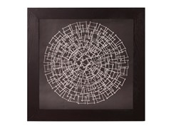 Abstract Round Silver Nail Wall Art