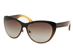 Women's Sunglasses, Black-Brown/Brown Gradient