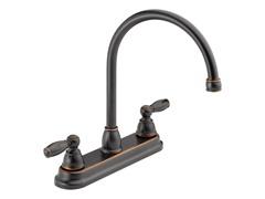 Two Handle Kitchen Faucet, Oil Bronze