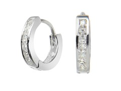 Sterling Silver Princess Cut Sim. Diamond