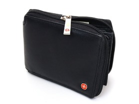 Alpine Swiss Zippered Bifold Men's Wallet