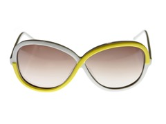 Kate Spade Darcee Sunglasses, White Lemon