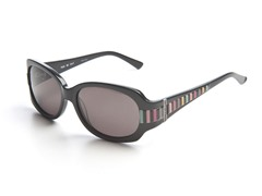 Black & Striped Sunglasses w/ Grey Lens