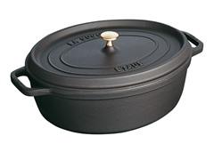 Staub 4-Qt. Wide Oval Cocotte - Black