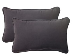 In/Outdoor Pillows-Fresco-Black-Set of 2