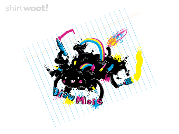 "Image of ""Inky Say """"draw More"""" T Shirt"""