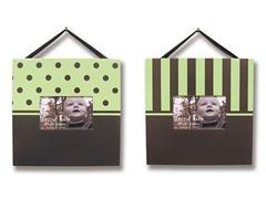 Sage Green and Brown 2-Piece Frame Set