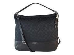 Park Signature Hobo Shoulder Handbag,Blk
