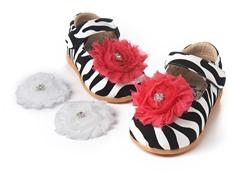 Squeaky Shoe - Lily, Zebra (3-8)