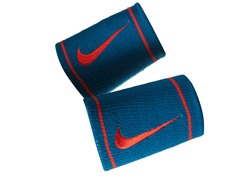 Dri-Fit Doublewide Wristbands - Blue/Red