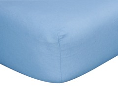Blue Flannel Crib Sheet