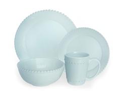 American Atelier Bianca Bead - Azul 16-pc Dinnerware Set