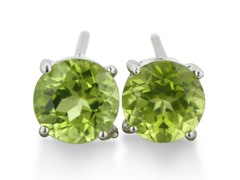2ct Round Peridot Earrings