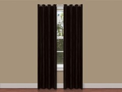 "84"" Solid Panels with Grommets S/2 - Black"
