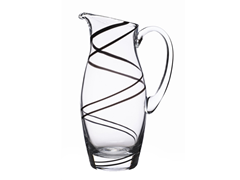 Luigi Bormioli Black Swirl Pitcher 54oz