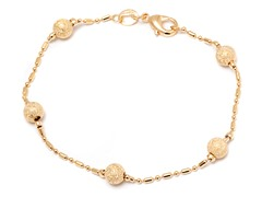 18k Gold Plated Bracelet w/ Laser Cut Ball