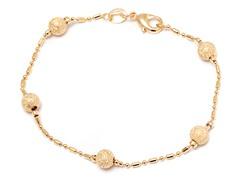 18k Gold Plated Bracelet w/ Laser Cut Ball