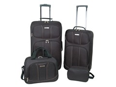 Moda 4-Piece Luggage Set - Black