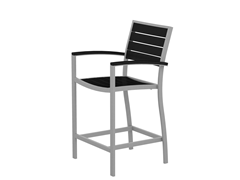 Euro Counter Chair, Silver/Black