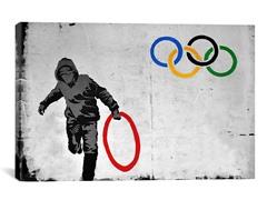 Olympics Stolen Ring Street Art