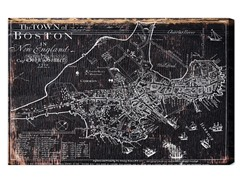 Town of Boston Map 1722 (4 Sizes)