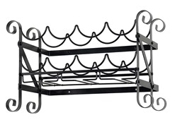Solid Metal Wine/Glass Wall Rack 21x11x12