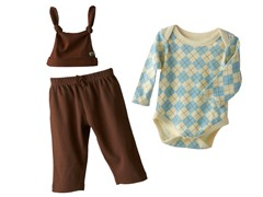 Argyle Chocolate Set & Hat (0-3M, 9-12M)
