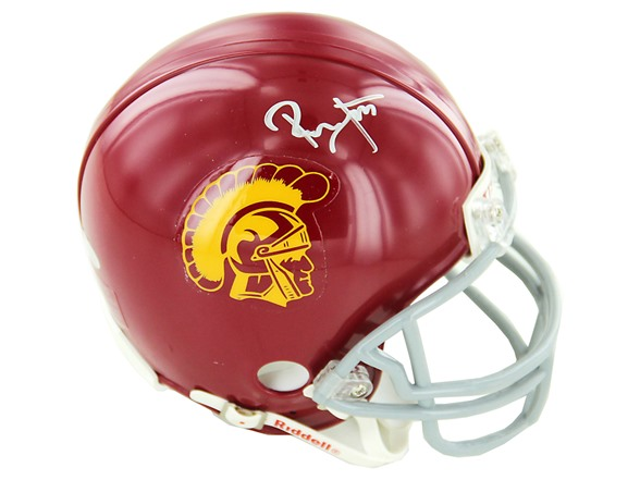competitive price ff175 a210a Ronnie Lott Signed USC Mini Helmet