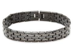 Black IP Link Bracelet