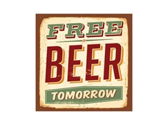 Free Beer Tomorrow Coasters- Set of 4