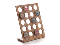 Acacia Wood Stand Up K-Cup Rack