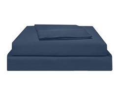 500TC Pima WF Sateen Sheet Set-Blue-2 Sizes
